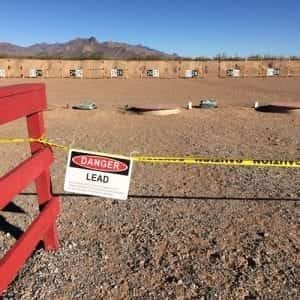 Gun Range lead decontamination